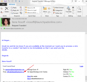 Spoofed email